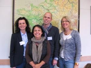 Von rechts nach links: Katrin Jaeger (Fachsprecherin), Alexander Casper, Isabelle Hartenfels (bis 2016), Ilona Pabst