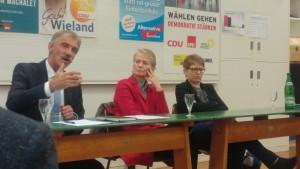 MdL Uwe Junge (AfD), MdL Gabi Wieland (CDU), MdL Tanja Machalet (SPD)