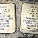 Photo 15: Die Stolpersteine für Albert und Billa Kahn
