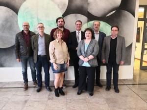 Im Bild von links nach rechts sehen Sie: Patrick Benner, Maik Reuter, Martina Smit,  Mirko Meurer, Christof Quernes (Vorsitzender), Heike Zimmert, Ulrich Schwark, Dr. Franz-Peter Opelt