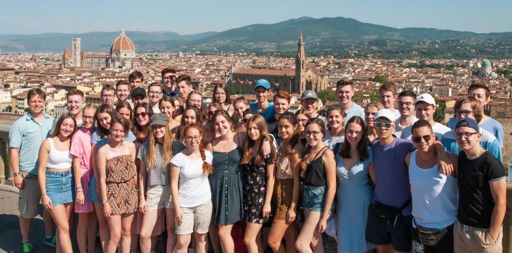Die Abiturentia 2020 des Landesmusikgymnasiums auf ihrer Studienfahrt in die Toskana 2019