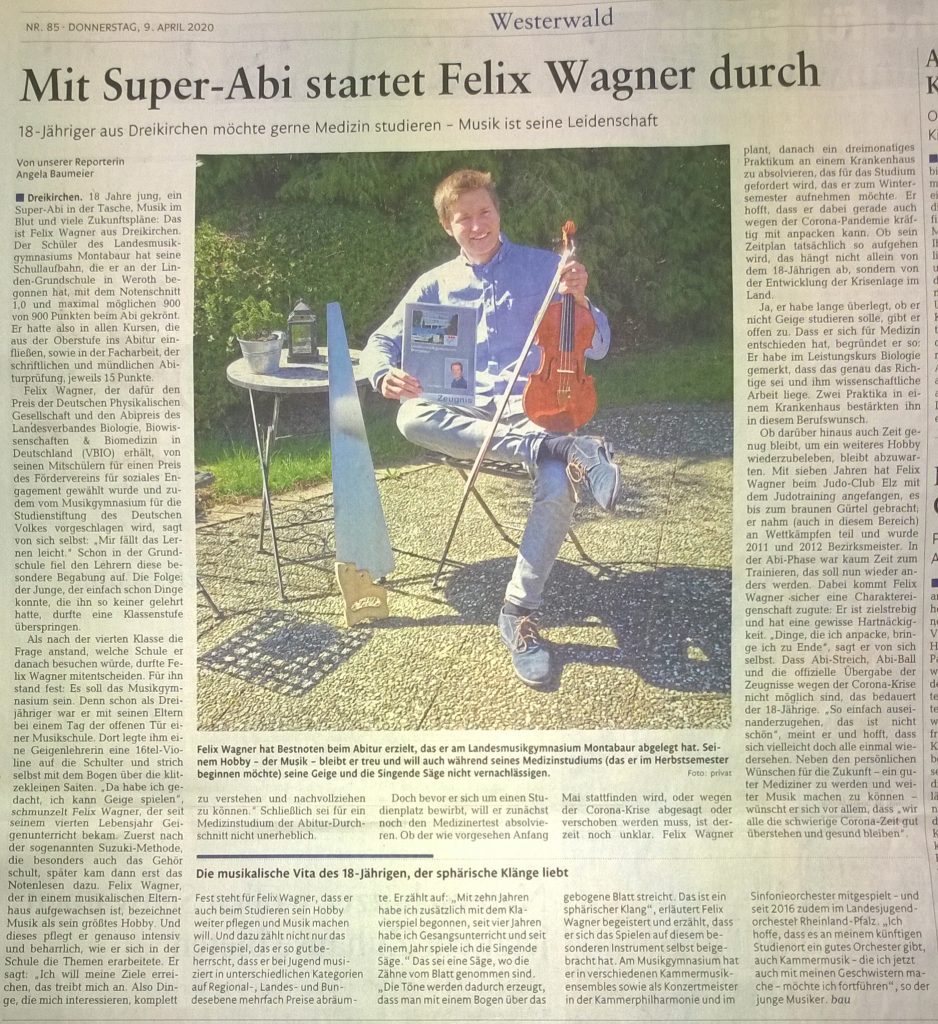 Super-Abi 2020 Felix Wagner